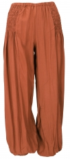 Airy Muck trousers, Boho harem pants, bloomers - rusty orange