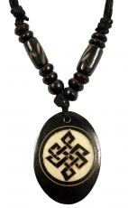 Ethno Amulet, Tibet Necklace - Endless Knot