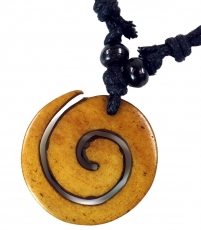 Ethno amulet, Tibet necklace, Tibet jewellery - Spiral