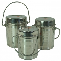 Stainless steel spice box with handle 3èr set