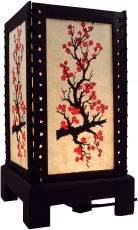 Transparent decorative table lamp made of wood handmade paper - b..