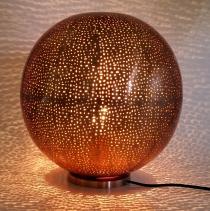 Decorative table lamp/table lamp in Moroccan design, copper plate..