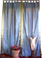 curtain, curtain (1 pair of curtains, curtains) made of saree fab..