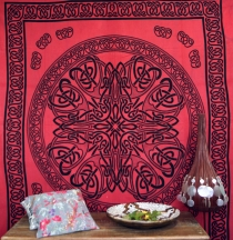 Wall hanging, wall cloth, mandala, bedspread Celtic - design 14