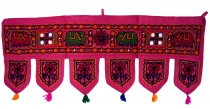 Indian wall hanging, Oriental pennant with sequins, Toran - Eleph..