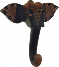 Wooden wall hook Elephant