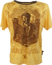 Weed T-Shirt - Buddha mango yellow