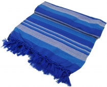 Soft woven double dayblanket `Kerala` made of cotton with fringes..