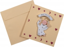 Christmas card with decorative angel - 7