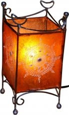 Henna lamp - Leather table lamp/table lamp Madras