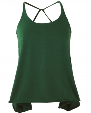 Yoga Top, Psytrance Festival Top - emerald green