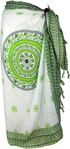 Bali sarong, wall hanging, wrap skirt, sarong dress Mandala - lemon - 160x120 cm