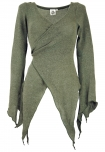 Wickel-Strickjacke, Pixi Wickeljacke - khaki