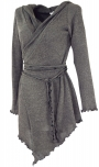Pixi Wickel-Strickjacke - granitgrau