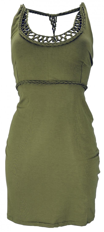 kleider in olivgrün