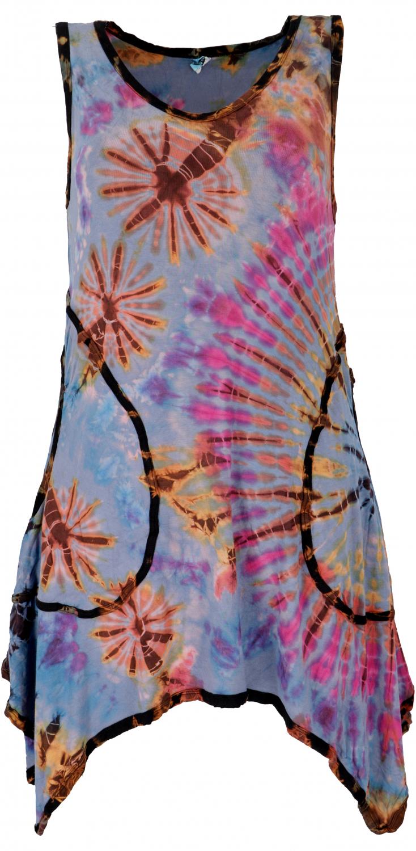 Batikkleid Minikleid Boho Pixi Kleid Hellblau